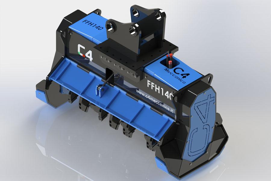 FFH140 – Decespugliatrice Idraulica A Denti Fissi Per Escavatori Da 18 A 25 Ton