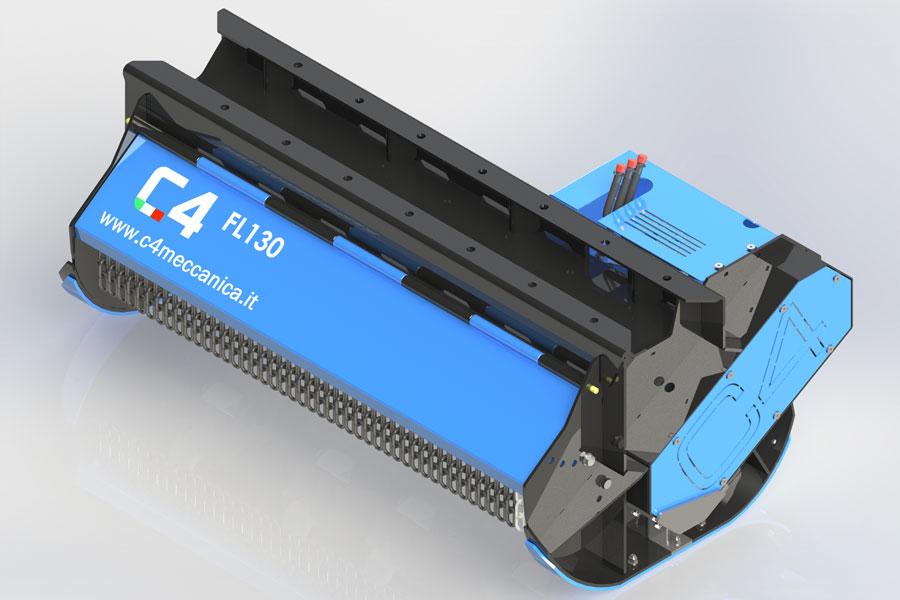 FL130 – FL160 – Decespugliatrici Idrauliche Con Mazze A Scomparsa Per Escavatori Da 5 A 18 Ton
