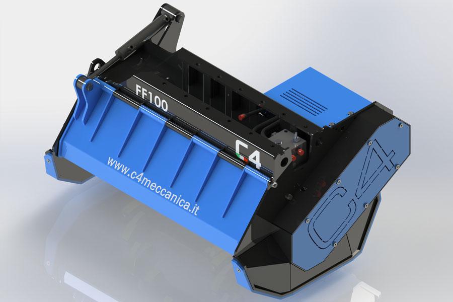 Serie FF – Decespugliatrici Idrauliche Per Escavatori Da 6 A 12 Ton