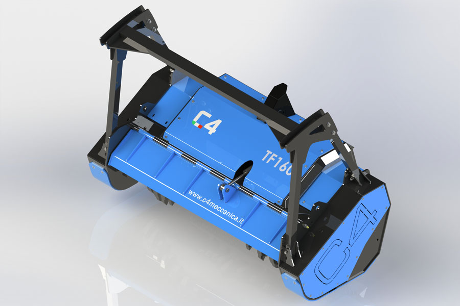 Serie TF – Trinciatrici Idrauliche Forestali A Denti Fissi Per Minipala